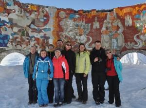 Туристы из Москвы в Гудаури - февраль 2015 год