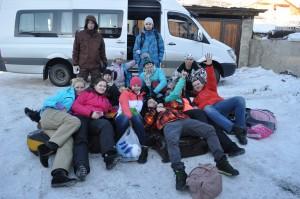 Ребята из Самары в Бакуриани - 4.01.2014 год.
