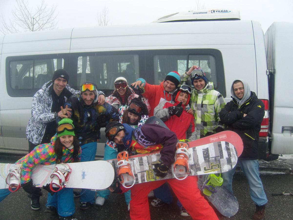 Наши ребята из г. Владикавказ в Гудаури - поездка 23-24.02.2013 год